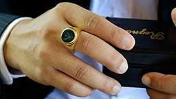 حلقه طلا gold ring gentlemen