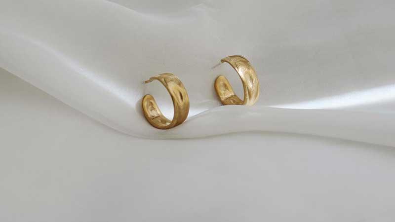 گوشواره ring golden earrings