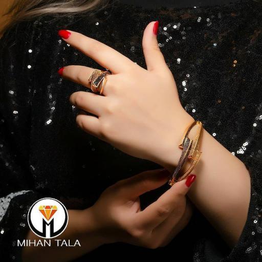 دستبند و انگشتر طلا پاشالوکس