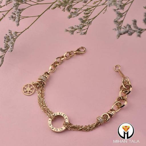 دستبند طلا ام ان