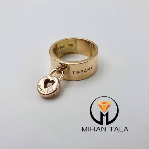 انگشتر طلا تیفانی کد6 طرح قفل و قلب