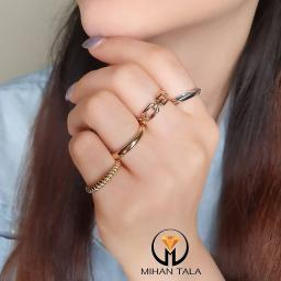 انگشتر طلا تیفانی ۴ حلقه طلایی و سفید