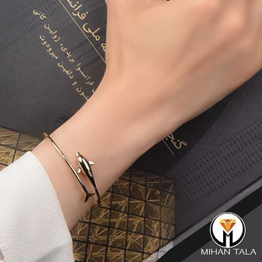 دستبند طلا النگویی سالی دلفین