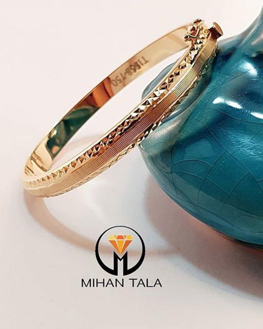 دستبند طلا النگویی تراش