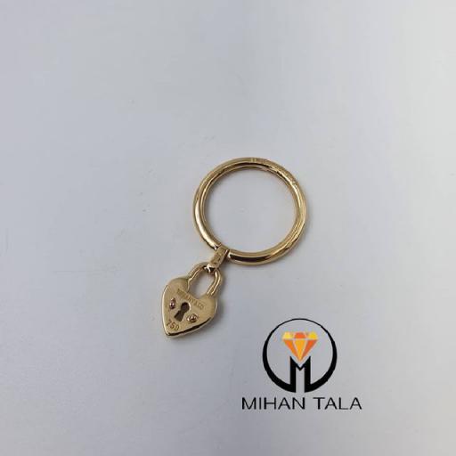 انگشتر طلا تیفانی کد3 طرح قفل و قلب