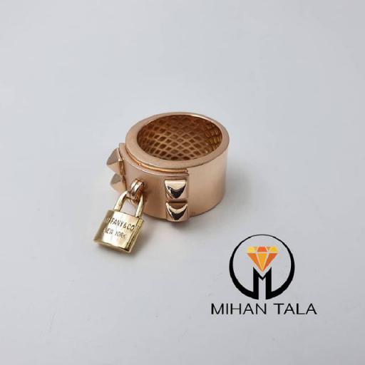انگشتر طلا تیفانی کد7 طرح قفل