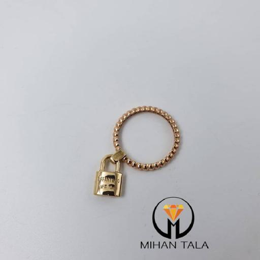 انگشتر طلا تیفانی کد5 طرح قفل